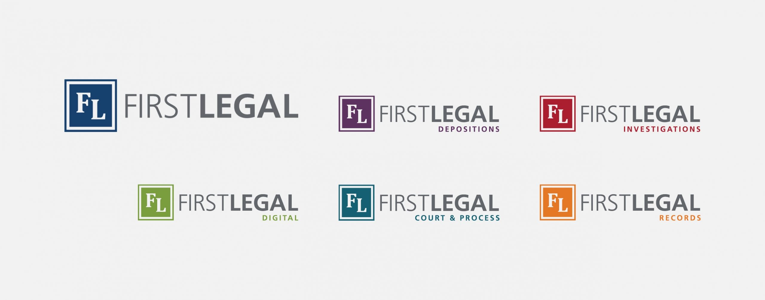 Built out First Legal department logos