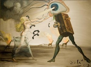 Burning Giraffes and Telephones by Salvador Dali