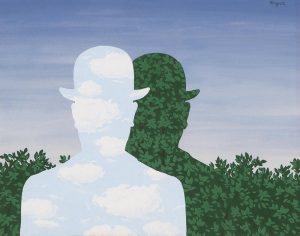 Two Men with Derbies by Rene Magritte